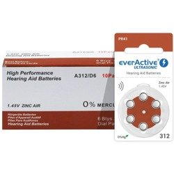 Batteries everActive ULTRASONIC - type 312 (PR41) BOX (60 pcs)