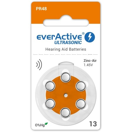 Batteries everActive ULTRASONIC - type 13 (PR48) blister (6 pcs)
