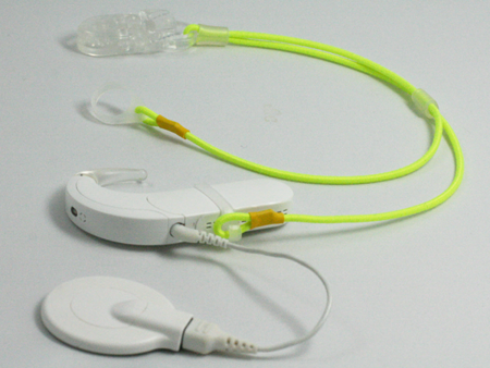 CLIP-ON HOOKS FOR PROCESSORS / HEARING AIDS - NEON YELLOW
