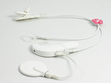 CLIP-ON HOOKS FOR PROCESSORS / HEARING AIDS - WHITE WITH FLOWER