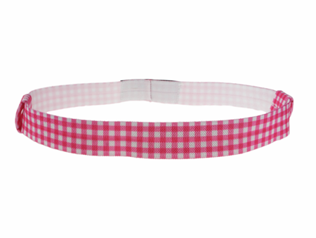 EasyFlex bands for hearing aids and/or speech processors - pink tartan pattern