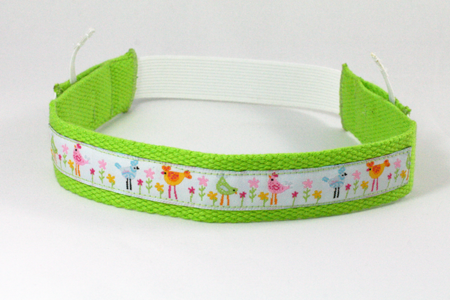 Fitted headband - green