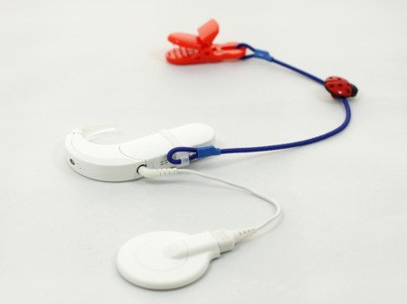 SINGLE CLIP-ON HOOK FOR ONE PROCESSOR / HEARING AID - BLUE